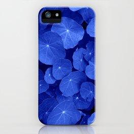blue nasturtium leafs iPhone Case