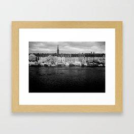 Left bank of the Main River Framed Art Print
