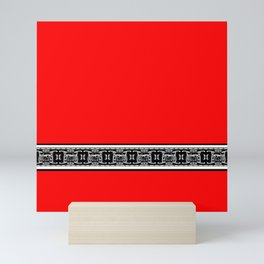 Eye of Horus - Red, White and Black Mini Art Print