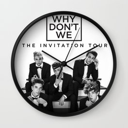 why dont we invitation tour 2021 Wall Clock