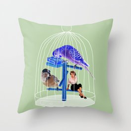 Birdie // Caged Throw Pillow