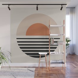 Vintage Sunset Gradient - Bold Neutral Wall Mural