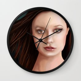 Summer Glau - The girl with the beautiful face Wall Clock