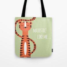 Tiger card - majestic like me Tote Bag