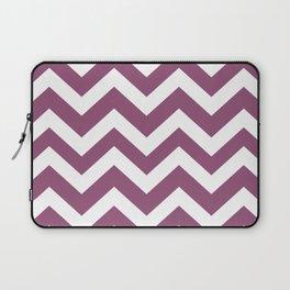 Sugar Plum - violet color - Zigzag Chevron Pattern Laptop Sleeve