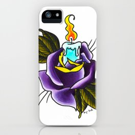Neo-traditional Rose & Candle iPhone Case