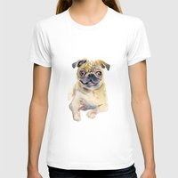 pug T-shirts featuring Pug by coconuttowers