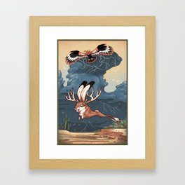 Jackalope and Thunderbird Framed Art Print