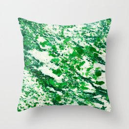 Speckled Emerald Throw Pillow