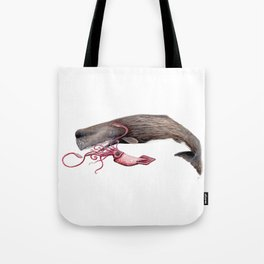 Epic battle between the sperm whale and the giant squid Tote Bag