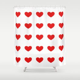 Hearts Seamless Pattern Shower Curtain
