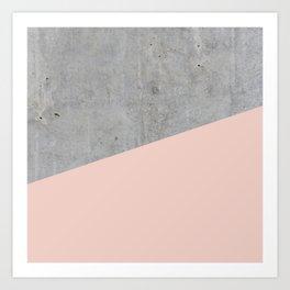 Concrete and Pale Dogwood Color Art Print