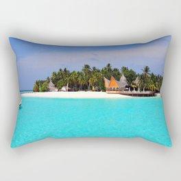 Maldives Beach Rectangular Pillow