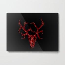 Wendigo Red Metal Print