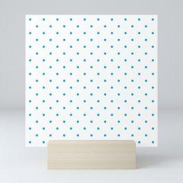 Small Blue Polka Dots Mini Art Print