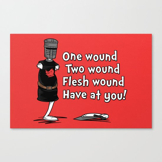 One Wound, Two Wound..... Canvas Print