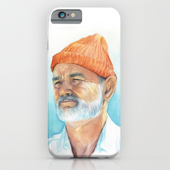 Steve Zissou Art Life Aquatic Bill Murray Watercolor Portrait iPhone & iPod Case
