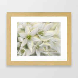 The Magic of Flowers Framed Art Print
