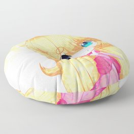 Crystal Peach Floor Pillow