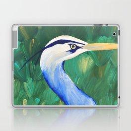 Heron in the Grass Laptop & iPad Skin