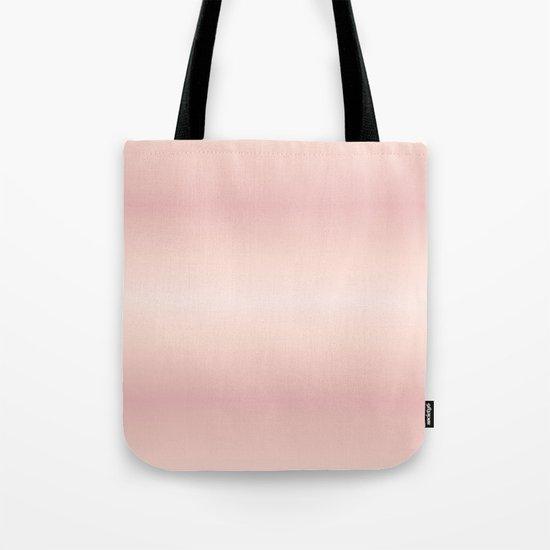 Rose Gradient Stripes Tote Bag