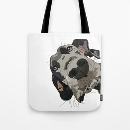 Great Dane dog in your face Tote Bag