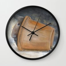 Pot pet Wall Clock