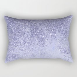 Elegant girly lavender faux glitter marble pattern Rectangular Pillow
