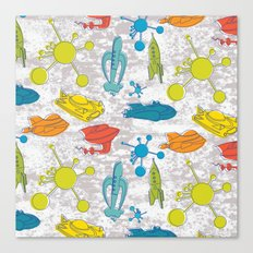Atoms and Spaceships Canvas Print