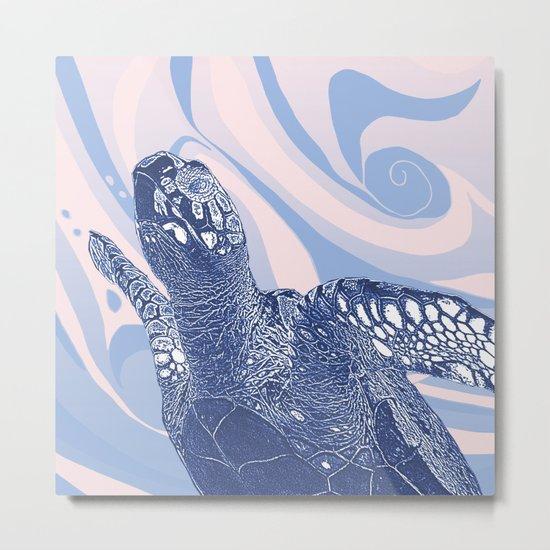 Unique Turtle Design Metal Print