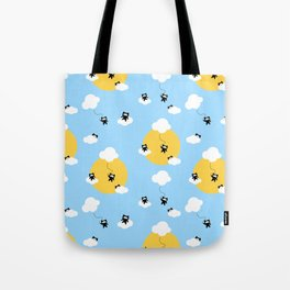 Ninja cats in the sky pattern Tote Bag