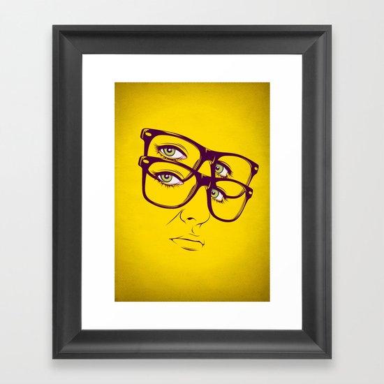 Y. Framed Art Print