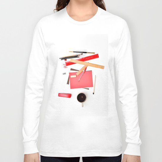 Coffee cup mug desk Long Sleeve T-shirt
