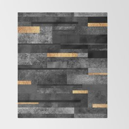 Urban Black & Gold Throw Blanket