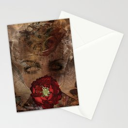 Lady with the red rose Stationery Cards