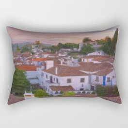 The walled town of Obidos, Portugal Rectangular Pillow