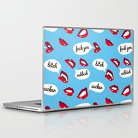 lips Laptop & iPad Skins featuring Lips by Sil Elorduy