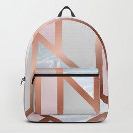 White Pastel Art Deco Backpack