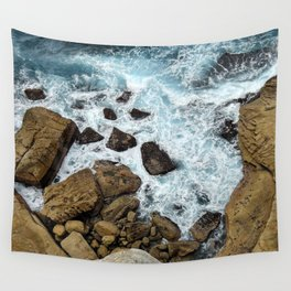 to the cliffs, to the sea Wall Tapestry