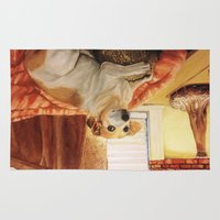 jack russell Area & Throw Rugs featuring Jack Russell by Good Artitude