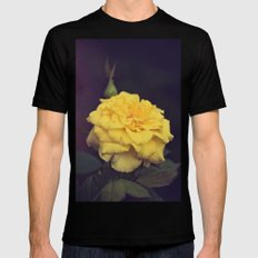 Yellow Rose MEDIUM Black Mens Fitted Tee