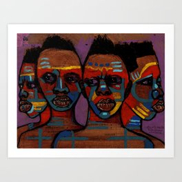 2018 As Unity We Migrate Life by Marcellous Lovelace Art Print