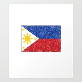 Philippines Islands Vintage Flag Gift Filipino Pride Country Art Print