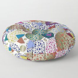 Penrose Tiling Inspiration Floor Pillow