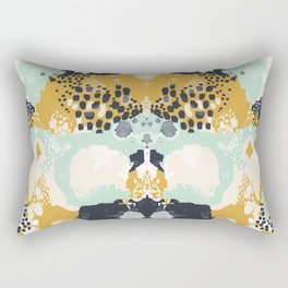 Tinsley - Abstract painting in bold, modern, bright colors Rectangular Pillow