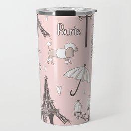 Paris Girl - Pink Travel Mug