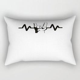 Heartbeat Rock And Roll Rock Star Rectangular Pillow