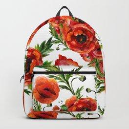 Poppy Heart pattern Backpack