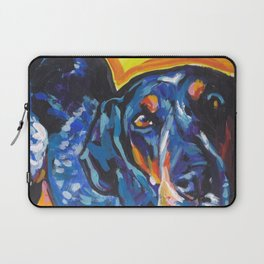 Fun BLUETICK COONHOUND Dog bright colorful Pop Art painting by Lea Laptop Sleeve