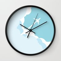 planes Wall Clocks featuring Planes  by StevenCoward